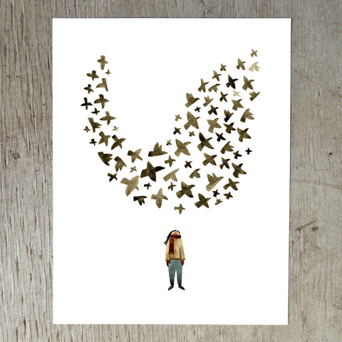 Starling Murmuration Art Print Art Prints Little Truths Studio