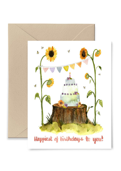 Sunflowers Birthday Greeting Card Greeting Card Little Truths Studio