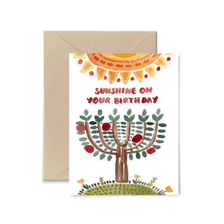 Sunshine On Your Birthday Greeting Card Greeting Card Little Truths Studio