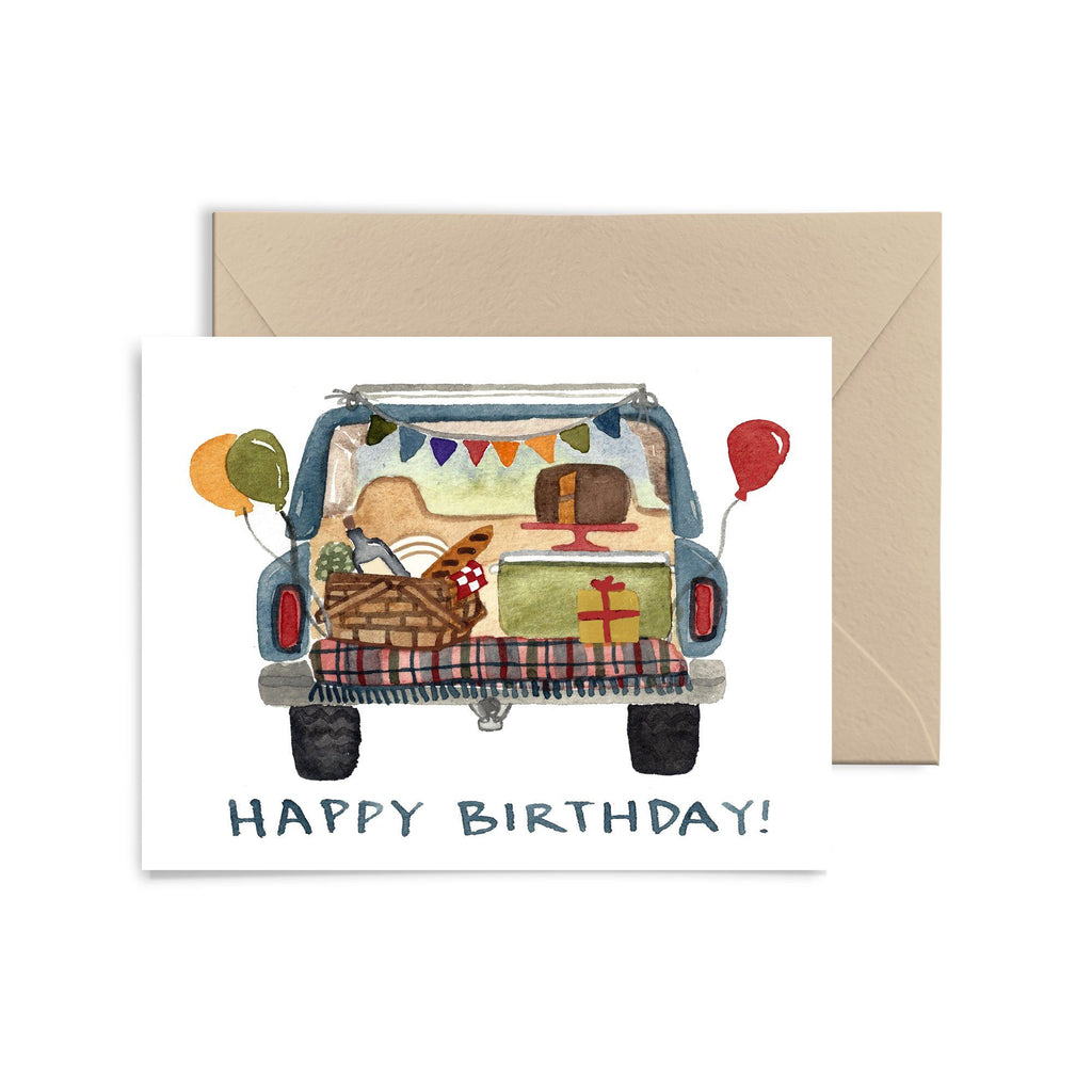 Tailgate Birthday Card Greeting Card Little Truths Studio