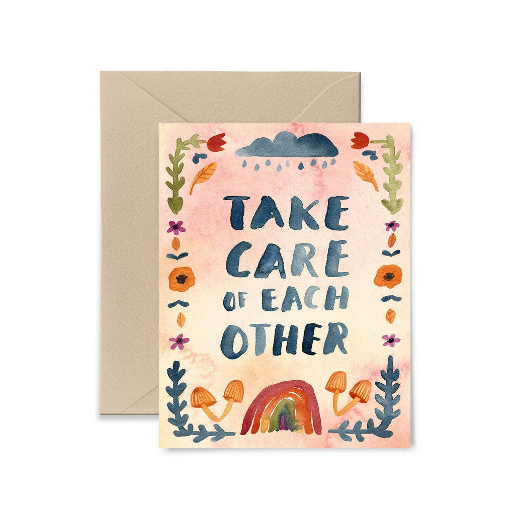 Take Care Of Each Other Greeting Card Greeting Card Little Truths Studio