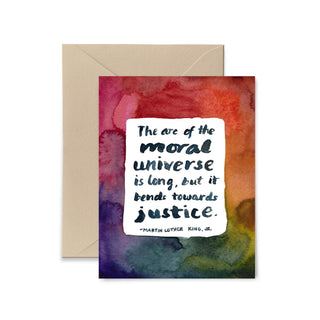 The Arc of The Moral Universe Greeting Card Greeting Card Little Truths Studio