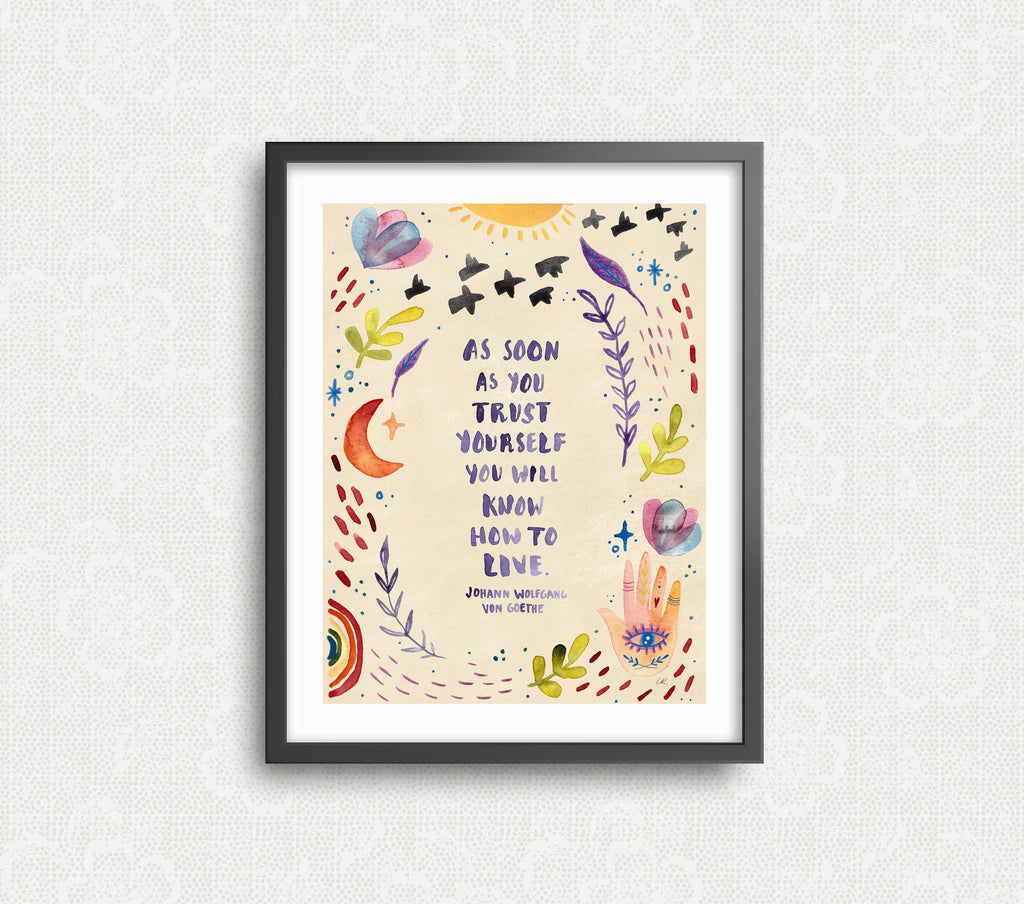 Trust Yourself Art Print Art Prints Little Truths Studio