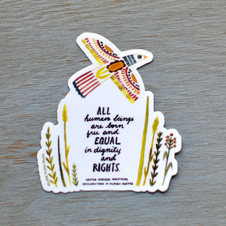 United Nations Declaration of Human Rights Vinyl Sticker sticker Little Truths Studio