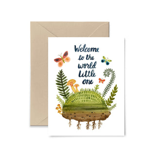 Welcome To The World Little One Greeting Card Greeting Card Little Truths Studio