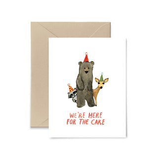 We're Here For the Cake Birthday Greeting Card Greeting Card Little Truths Studio