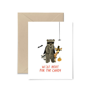 We're Here For The Candy Greeting Card Greeting Card Little Truths Studio