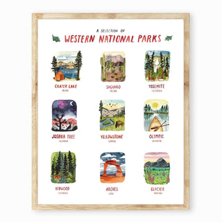 Western National Parks Art Print Art Prints Little Truths Studio