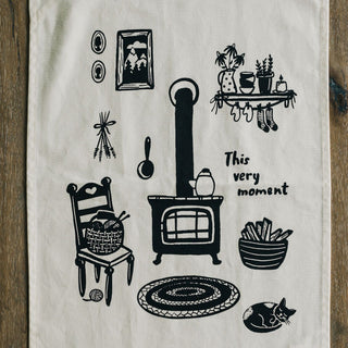 Winter Hearth Tea Towel Tea Towel Little Truths Studio