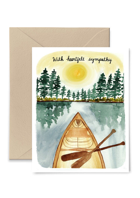 With Heartfelt Sympathy Greeting Card Greeting Card Little Truths Studio