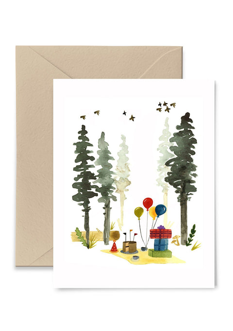 Woodland Birthday Greeting Card Greeting Card Little Truths Studio
