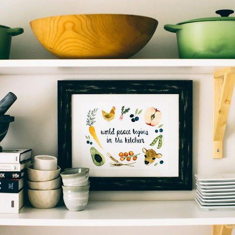 World Peace Kitchen Print Art Prints Little Truths Studio