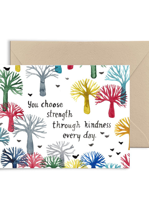You Choose Strength Greeting Card Greeting Card Little Truths Studio