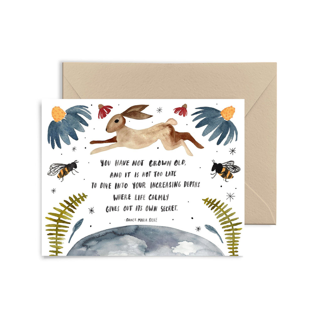 You Have Not Grown Old Greeting Card Greeting Card Little Truths Studio