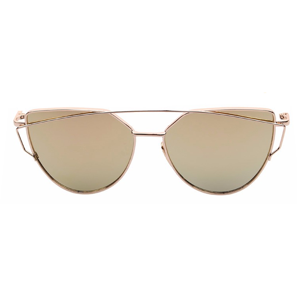 Coronado Cat Eye Aviator Gold & Gold Front