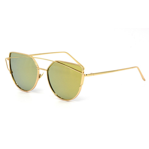Coronado Cat Eye Aviator Gold & Gold Left