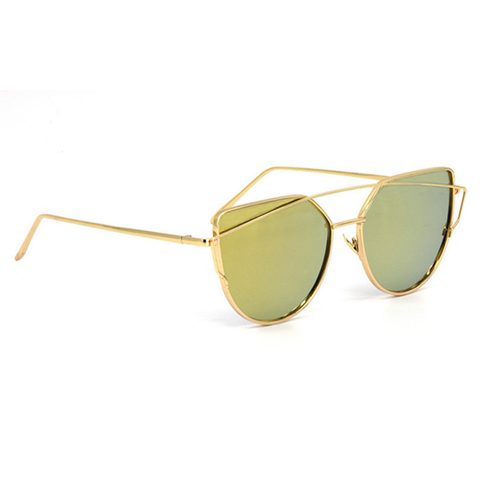 Coronado Cat Eye Aviator Gold & Gold Right