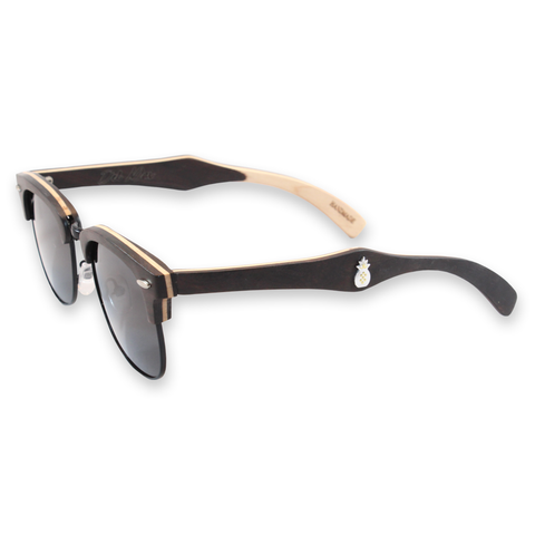 Del Mar Ebony Clubmaster Sunglasses Left