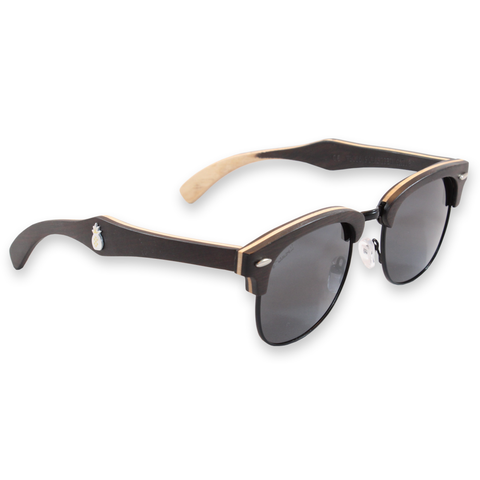 Del Mar Ebony Clubmaster Sunglasses Right