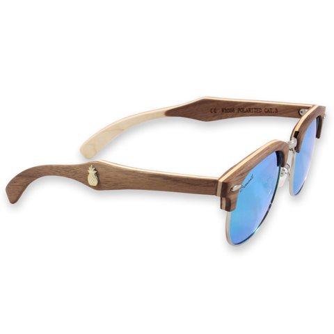 Del Mar Walnut Clubmaster Sunglasses Right