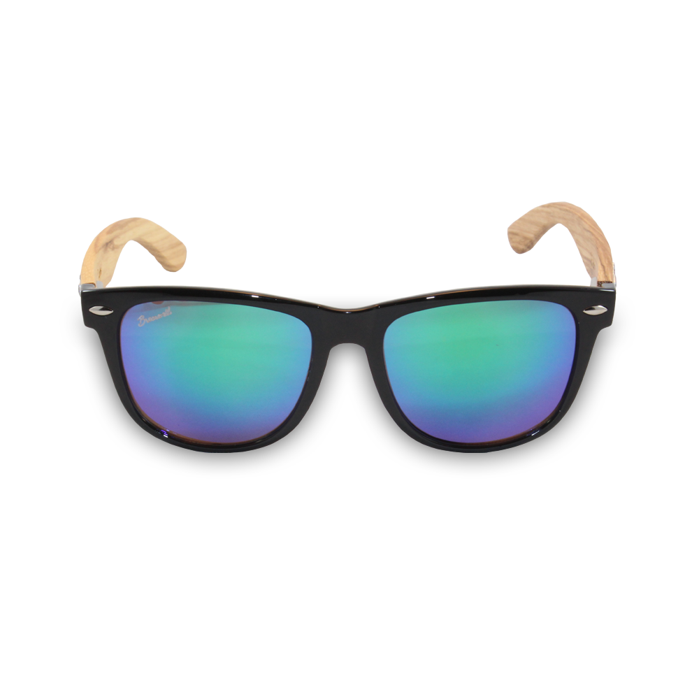 Diegos Zebrawood Sunglasses Front