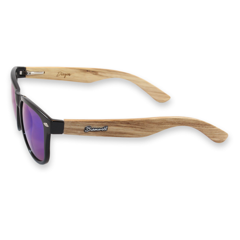 Diegos Zebrawood Sunglasses Left