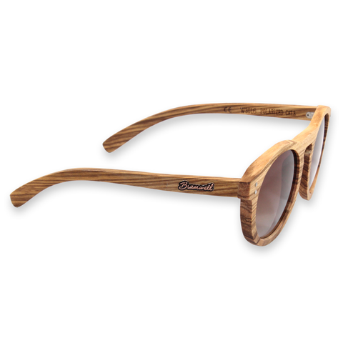 Leucadia Zebrawood Roundabout Sunglasses Right