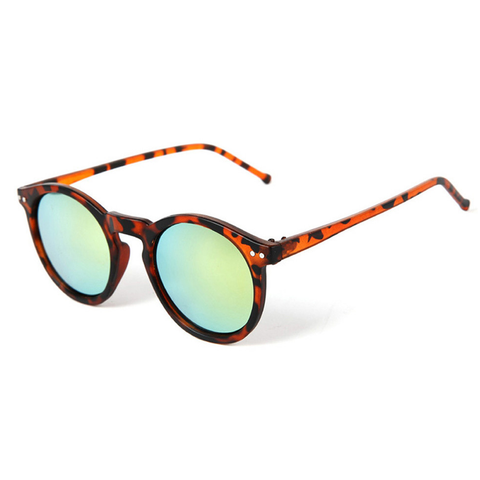 Tortoise Round Mirror Sunglasses Left | Bramwell