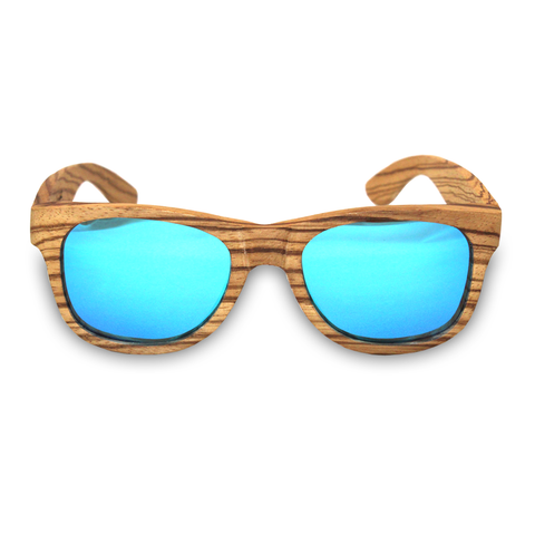 Moonlight Zebra Bamboo Sunglasses Front