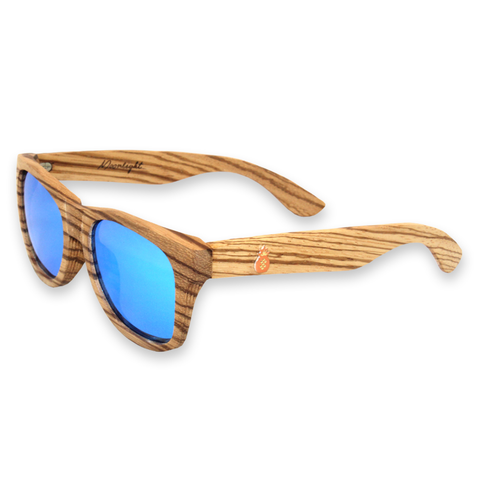 Moonlight Zebra Bamboo Sunglasses Left