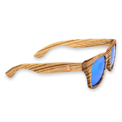 Moonlight Zebra Bamboo Sunglasses Right