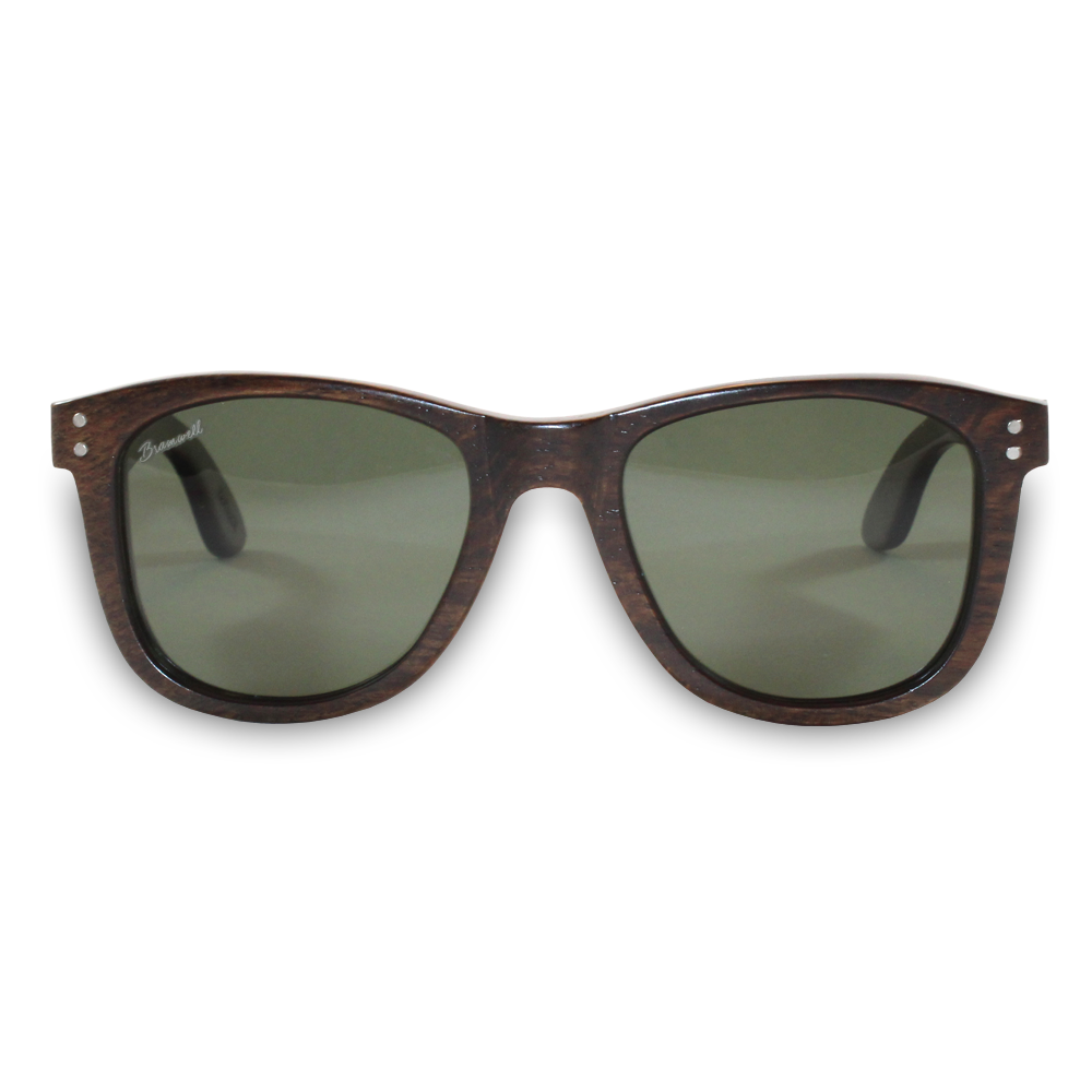 Pipes Brazilian Rosewood Sunglasses Front