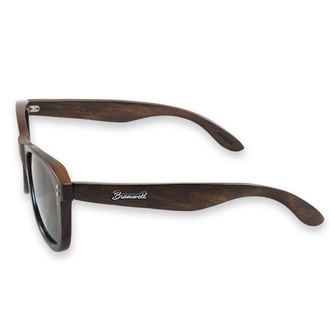 Pipes Brazilian Rosewood Sunglasses Left