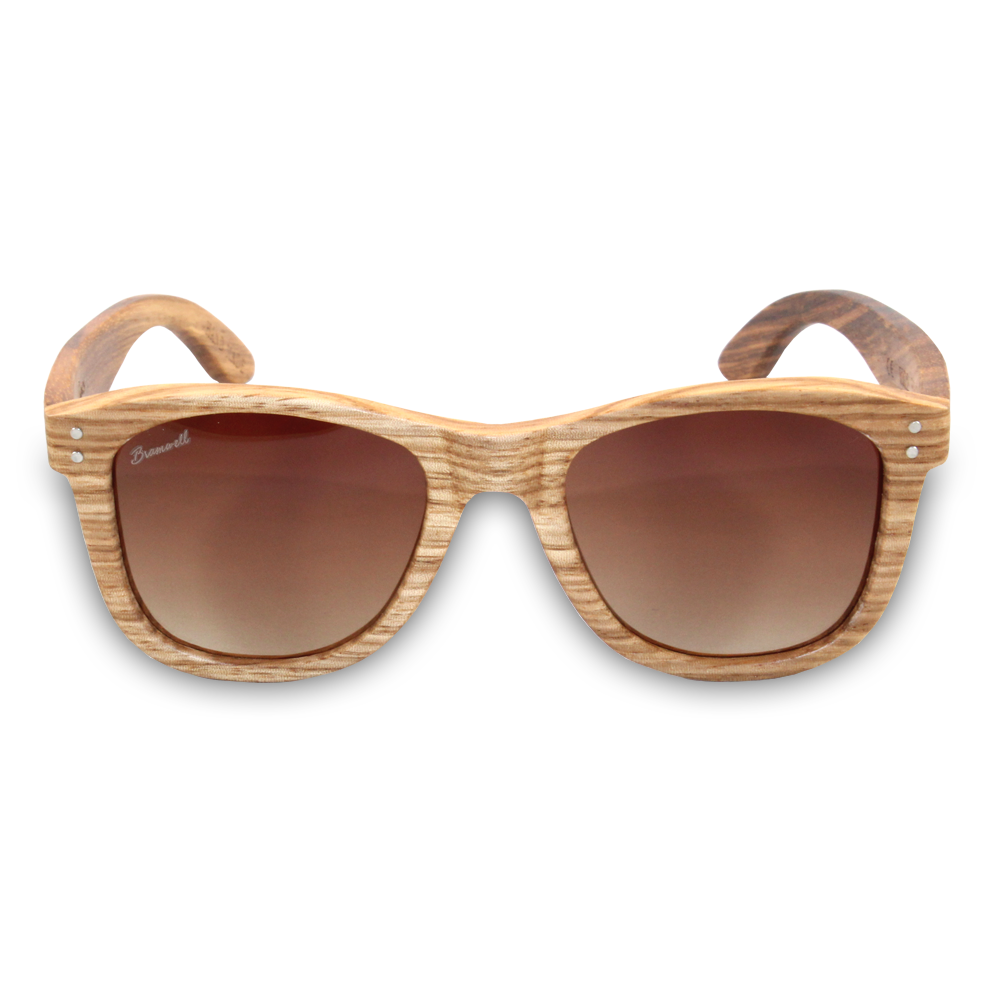 Pipes Zebrawood Sunglasses Front