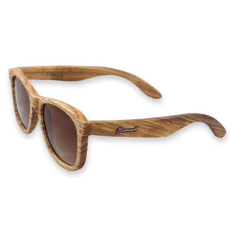 Pipes Zebrawood Sunglasses Left