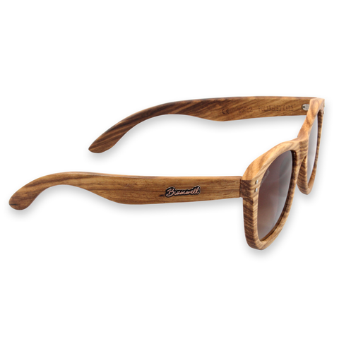 Pipes Zebrawood Sunglasses Right