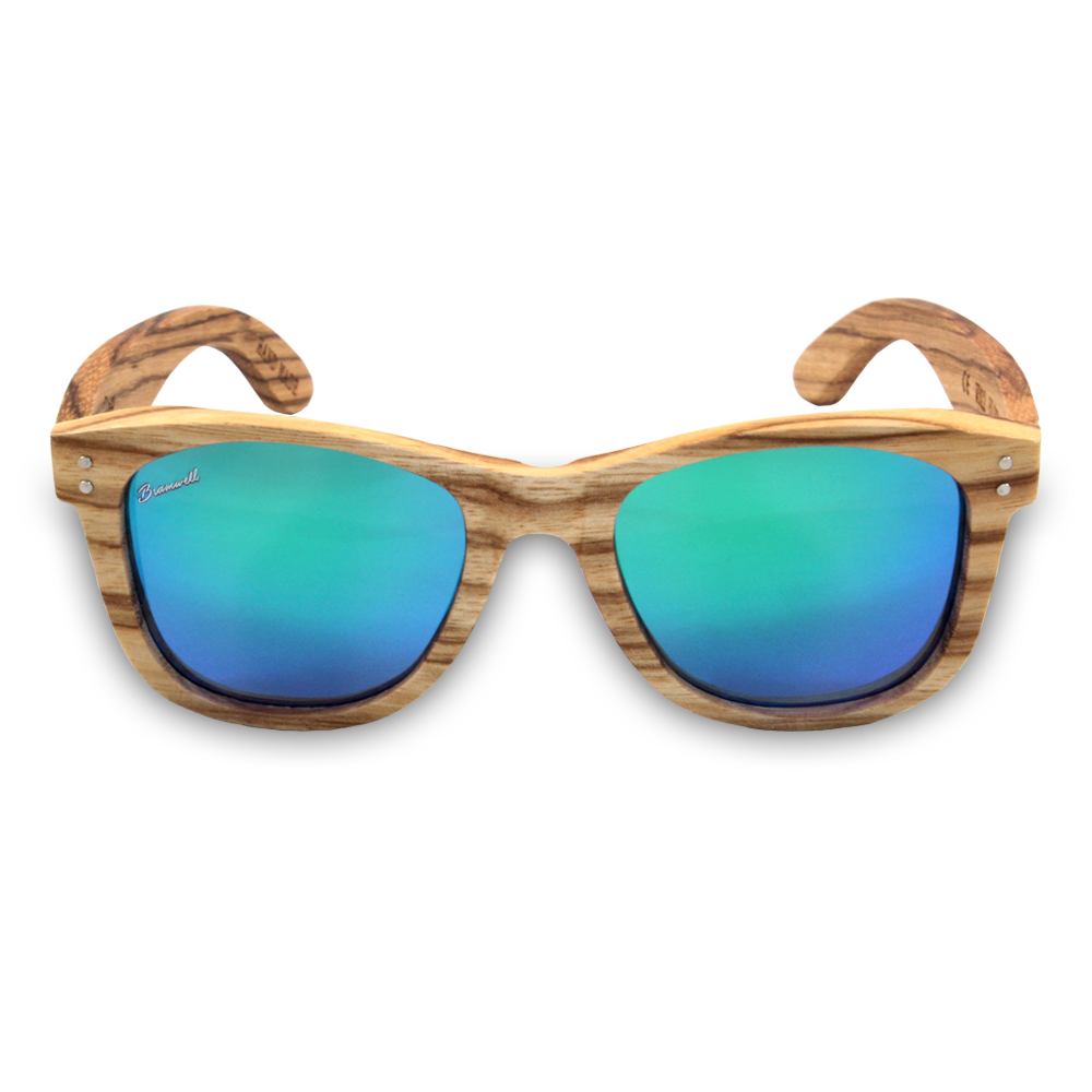 Pipes REVO Zebrawood Sunglasses Front