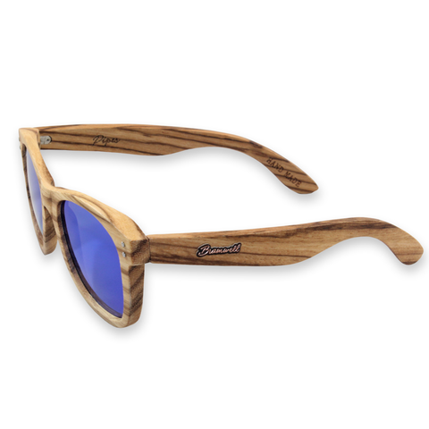 Pipes REVO Zebrawood Sunglasses Left