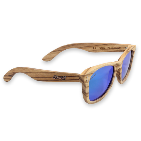 Pipes REVO Zebrawood Sunglasses Right