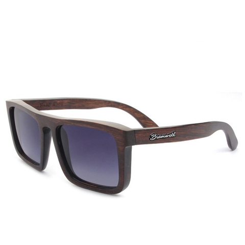 Pacific Beach Brazilian Rosewood Sunglasses Left Bramwell