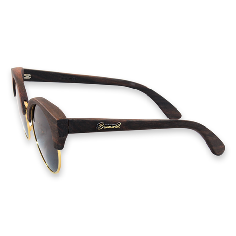 Swamis Vintage Ebony Walnut Sunglasses Left