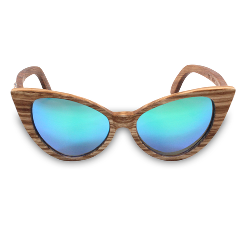Wind & Sea REVO Zebrawood Cat Eye Sunglasses