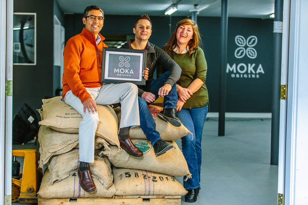 Ishan, Jeff, and Sara of Moka Origins