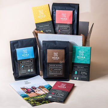 3 Coffee, 3 Chocolate Gift Set Bundle Moka Origins