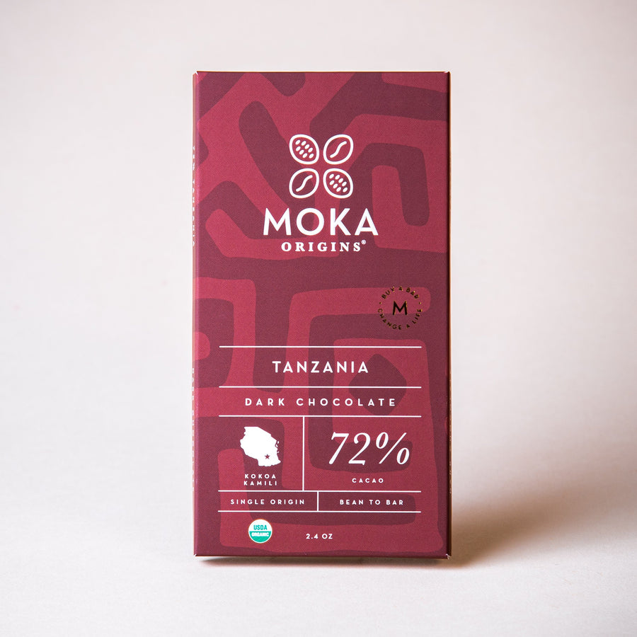 Tanzania 72% Dark Chocolate Chocolate Bars Moka Origins
