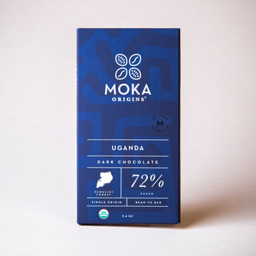 Uganda 72% Dark Chocolate Chocolate Bars Moka Origins