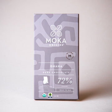 Ghana 72% Dark Chocolate Chocolate Bars Moka Origins