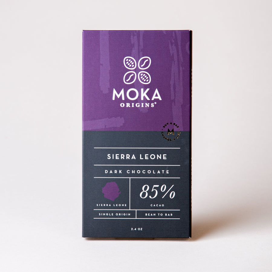 Sierra Leone 85% Dark Chocolate Chocolate Bars Moka Origins