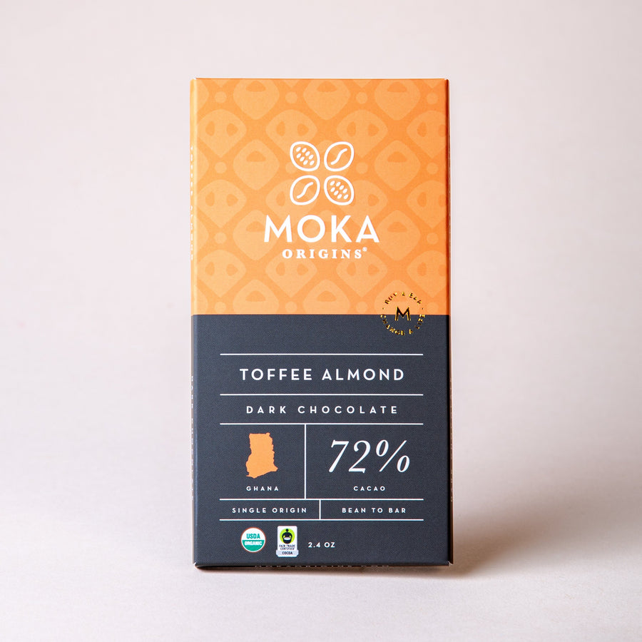 Toffee Almond Chocolate Chocolate Bars Moka Origins