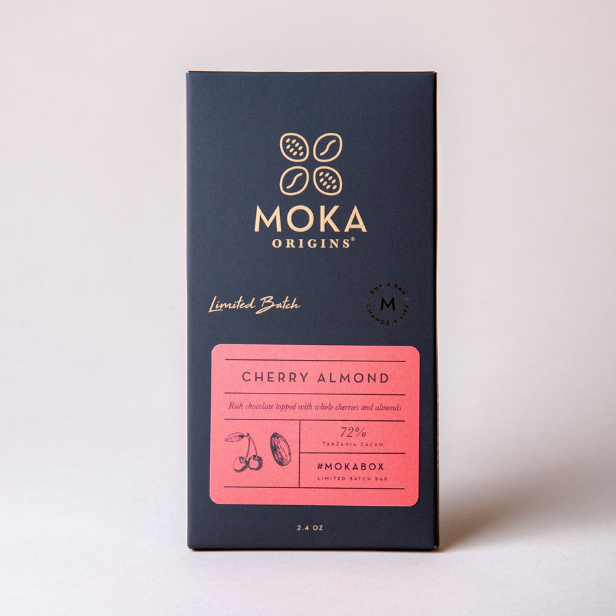Cherry Almond Chocolate Bars Moka Origins